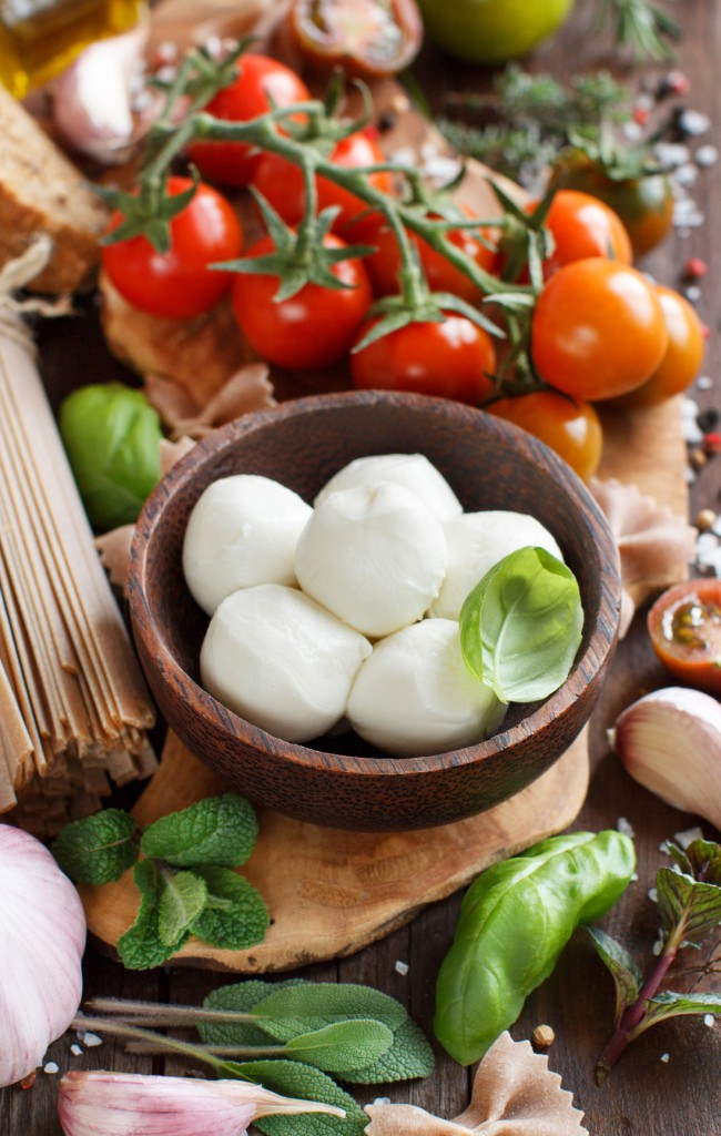 Caprese - eine italienische Vorspeise mit Mozzarella