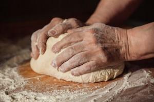 Pasta Teig kneten