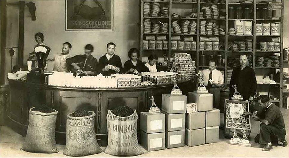 Italienischen Kaffee in der Vergangenheit